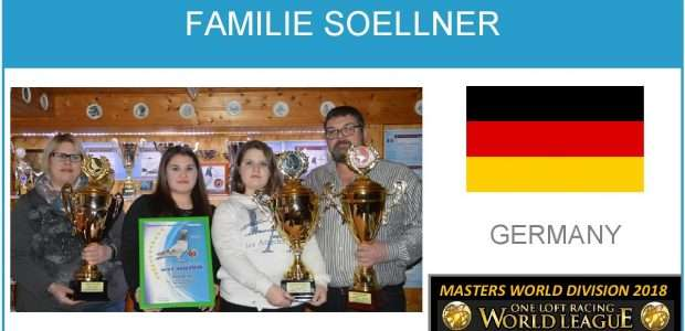 FAMILIE SOELLNER. CHAMPION 2018. ONE LOFT RACING WORLD LEAGUE.